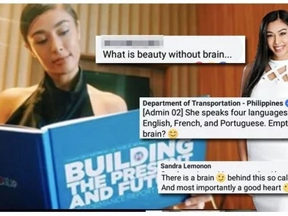 "Hindi lang daw siya puro pagpapaganda! Sandra Lemonon reacts to ""beauty without brain"" comment of basher"