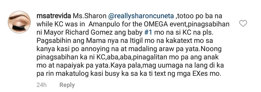 Galit na galit talaga si Mega! Sharon Cuneta defends herself from supporters of Gabby Concepcion who accused her of being a liar