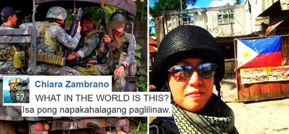 Chiara Zambrano posted a startling clarification about her 'love story' with a soldier who got killed in Marawi City: 'Please lang, walang ganun'