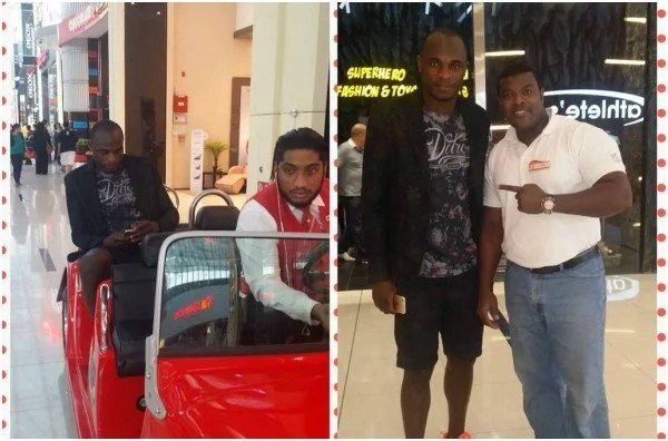 Kenyan Football legend Dennis Oliech spotted holidaying in Dubai weeks after broke rumors