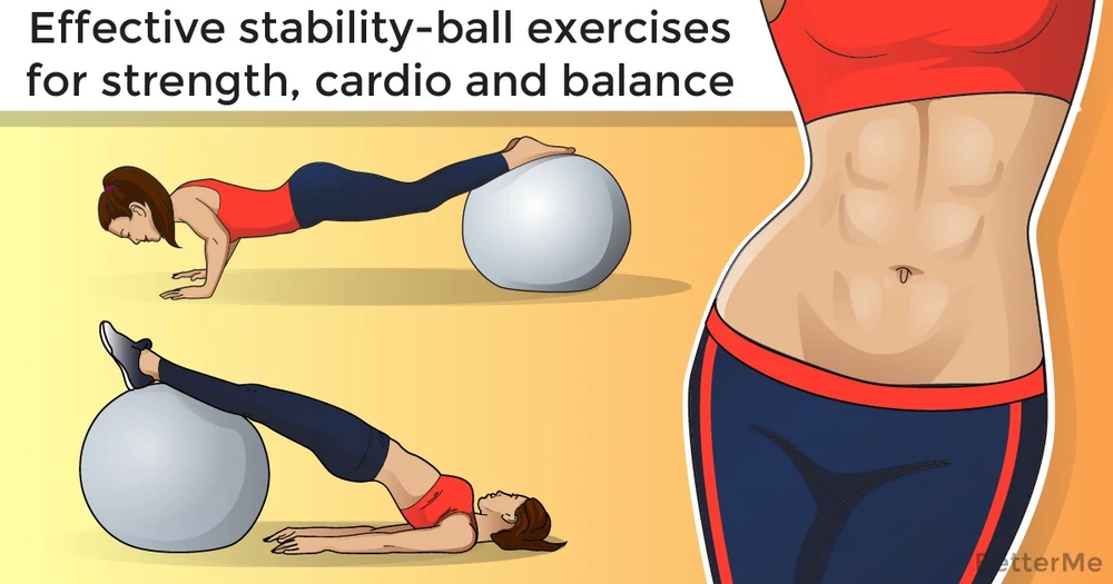 Effective stability-ball exercises for strength, cardio and balance