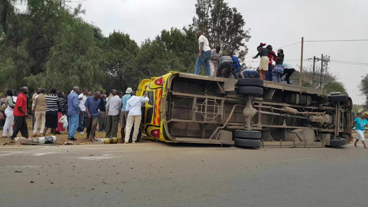 Another Rongai matatu on the spot after staff BITES OFF man's lip (photos)