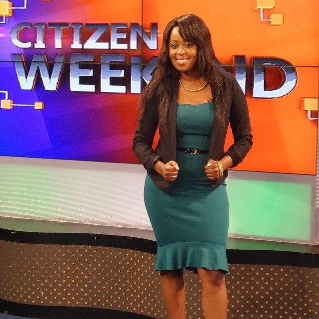 Photos of Citizen TV's Lillian Muli in black underwear win today's internet.