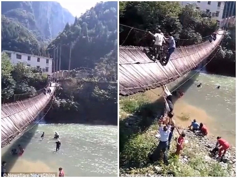 """""""No entry!"""" Tourists ignored this crucial sign telling them not to cross bridge, then everything fell apart"""