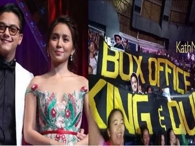 Daniel Padilla and Kathryn Bernardo; youngest to be crowned as Box Office King and Queen