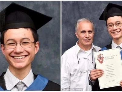 Human calculator! 15-year-old boy nicknamed Einstein graduates with first class degree in maths
