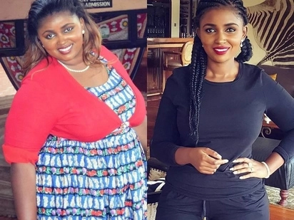12 amazing photos that capture the spectacular weightloss of Kenyas richest daughter from 124 kilos to 64 kilos