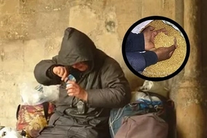 86-year-old homeless beggar said he had been robbed of gold worth about PH2,000,000