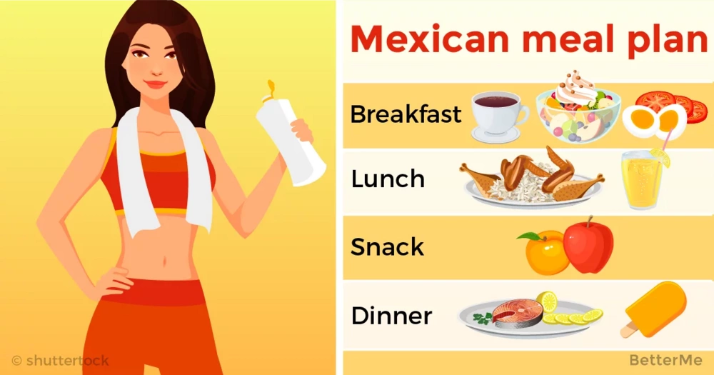 Mexican meal plan, which can help you drop up to 3 pounds in a week