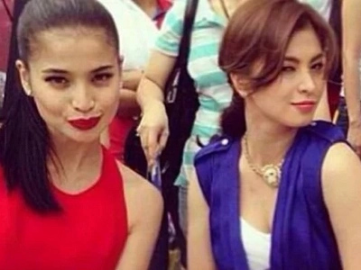 Witty rin si ate! Angel Locsin cleverly merges titles to promote her and Anne Curtis's films