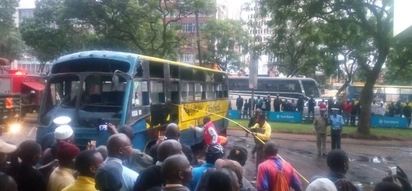 Several injured after City Shuttle overturns in Nairobi's CBD