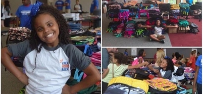 Little girl with a big heart! 10-year-old girl helps 1,000 students in need get school supplies