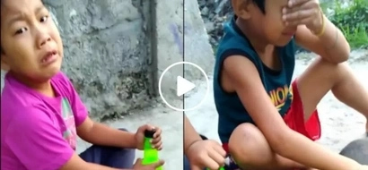 Netizens moved by these two young boys who burst into tears beside their dead dog