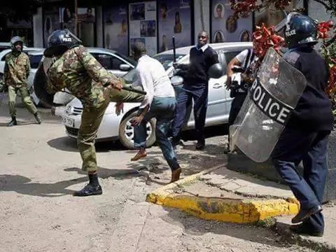 Photos of anti-IEBC protests by opposition