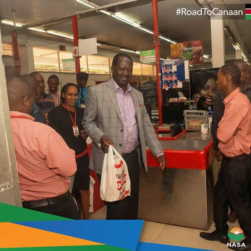 Did Supermarket sack Kikuyu lady for attending to Raila? Here is the truth