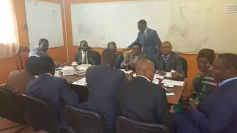 Ababu Namwamba attends ODM Central Committee meeting