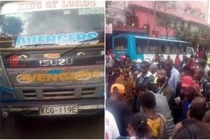 Just in: Matatu driver flees after killing elderly white man in Nairobi CBD (PHOTOS)