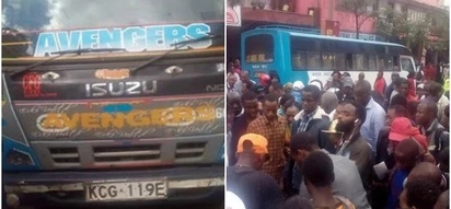 Just in: Matatu driver flees after killing elderly white man in Nairobi CBD (PHOTOS)