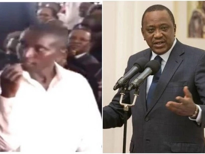 Uhuru Kenyatta left in stitches as brave man risks It all to hand him note at late Matiba's memorial