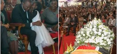 Little girl charms Uhuru at Governor Gachagua's funeral