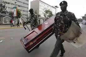 Drama As Police Nab Six People Ferrying Illicit Brew In Coffin