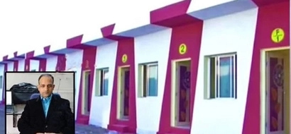 Millionaire builds 90 pink apartments for homeless as present to daughter's wedding