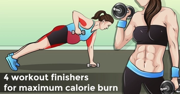 4 workout finishers for maximum calorie burn