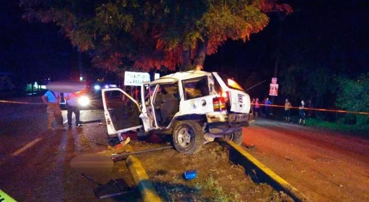 Conductor falleció tras chocar contra un árbol