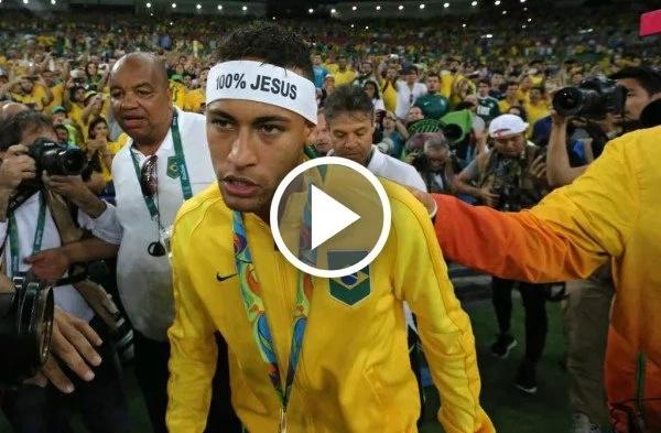 Neymar insultó a un hincha cuando celebraba la medalla de oro olímpica