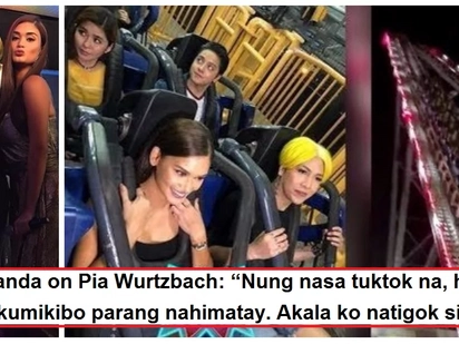Vice Ganda inakalang patay si Pia Wurtzbach?! TV host thinks his 'The Revenger Squad' co-star fainted during roller coaster ride at Enchanted Kingdom