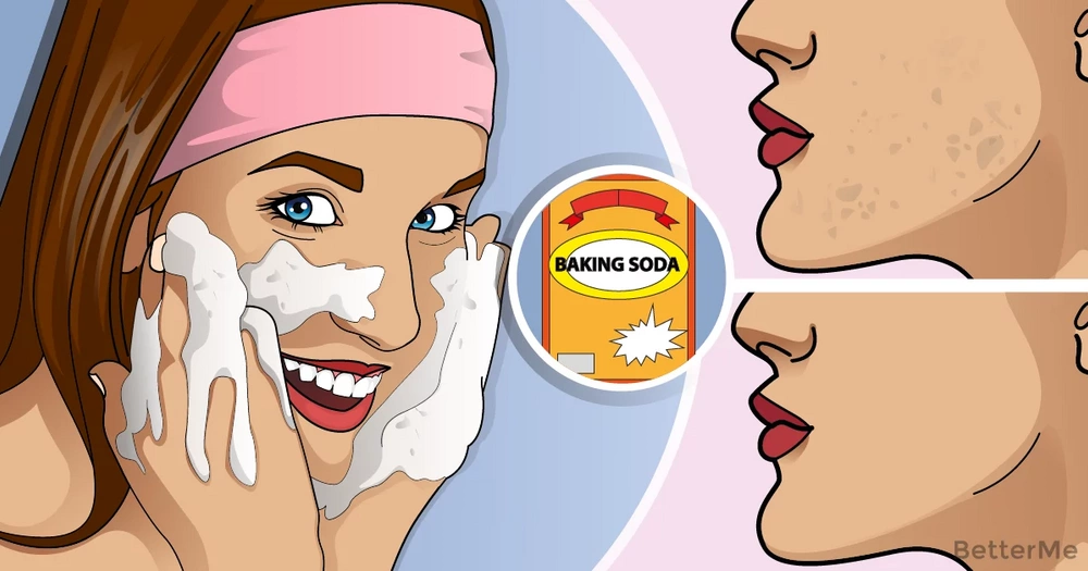A baking soda mask that can remove dead skin from your face