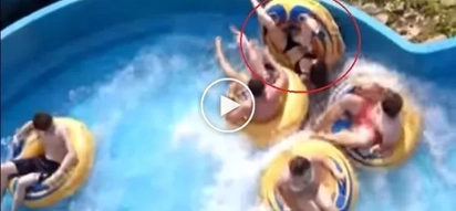 Watch Out How This Girl Flipped Off The Tube. Funny Water Slide Fails And Falls