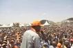 Photos of Raila in Garissa, HUGE crowd meets him at airstrip