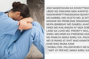 OFW's brother sends her hurtful message after she was not able to send money for a new car