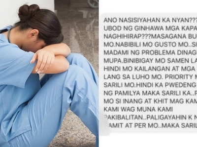 OFW receives hurtful message from her brother for not sending money for a new car