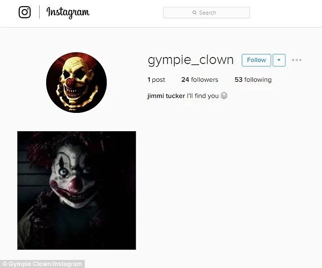 The Message Creepy Clown Left At Young Girl's Instagram Will Literally Scare The Shit Out Of You