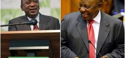 Uhuru heaps praises on new South African President Cyril Ramaphosa