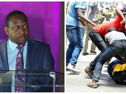 Police point an accusing finger at Mike Sonko for the rampant insecurity within Nairobi CBD
