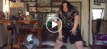Hilarious girl dancing to