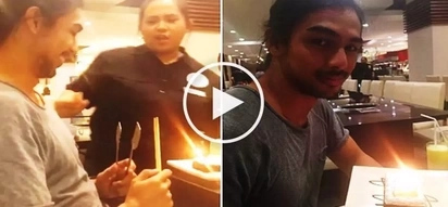 Kiray Celis lied to these restaurant employees about Kirst Viray's birthday so that they could get a free cake!