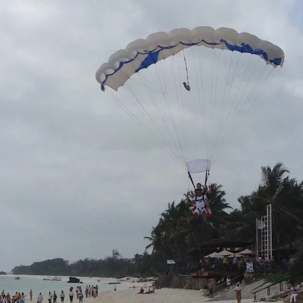 PHOTOS: Tourism CS Najib Balala Goes Skydiving In Kilifi uliza