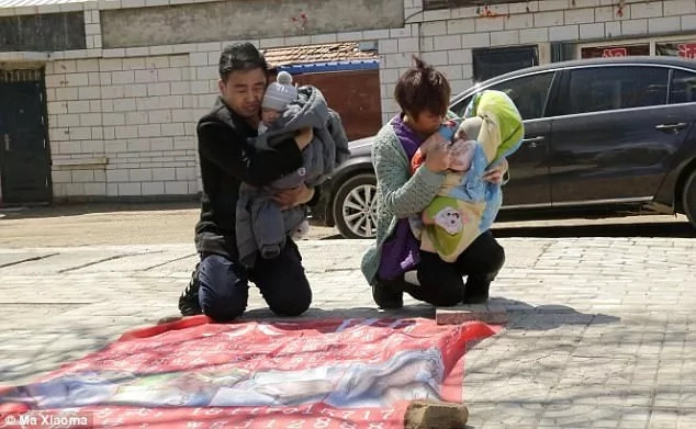 The couple was forced to beg on the streets to raise money for their twins' treatment