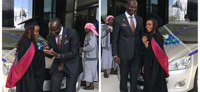 KNUT boss Wilson Sossion surprises daughter with brand new car on her graduation