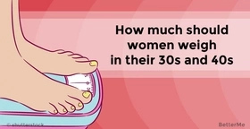 How much women should weight in their 30s and 40s