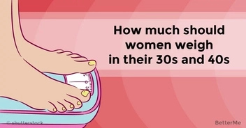How much women should weigh in their 30s and 40s