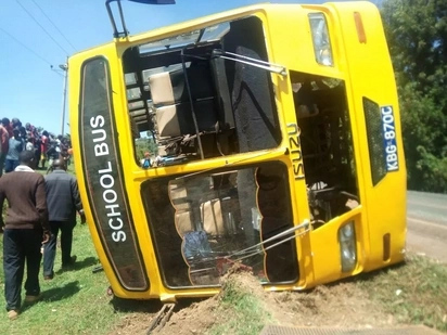 11 students injured in twin school bus horror crash
