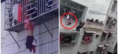 Heroes! 2 men save toddler hanging by her NECK from 4th-story window (photos, video)