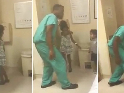 Heartwarming! Doctor lightens mood of patient's kids by singing and dancing with them