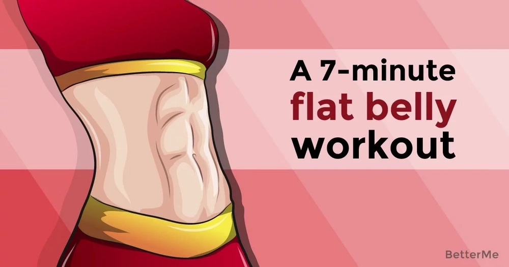 A 7-minute flat belly workout