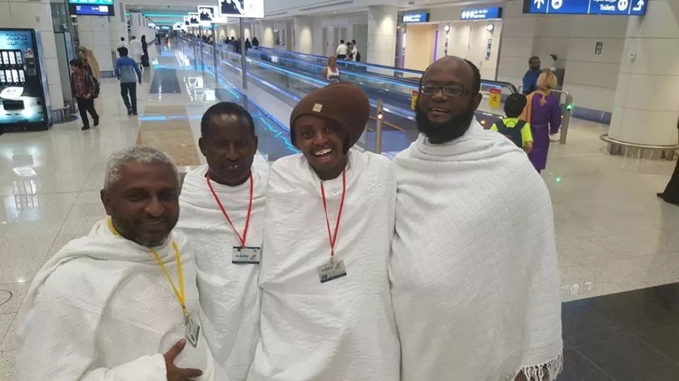 Abdiaziz Aden gets special prayer in Mecca
